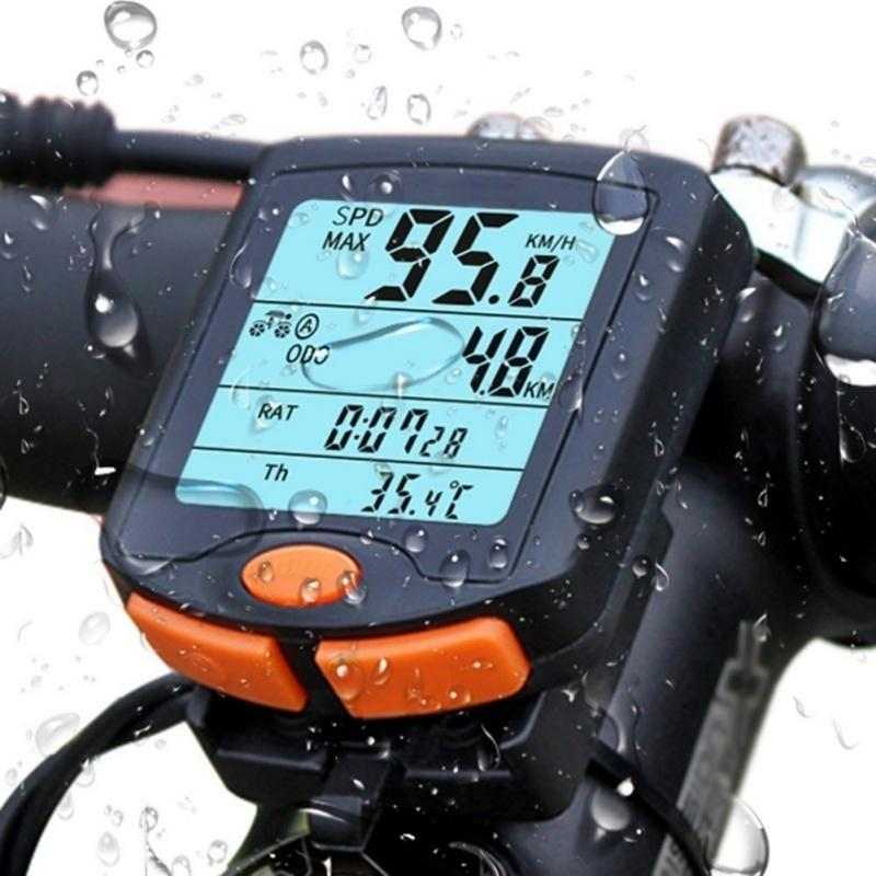 전자 속도계 4 화면 디스플레이 트레이너와 빛나는 도로 사이클링 마운틴 자전거를위한 자전거 액세서리