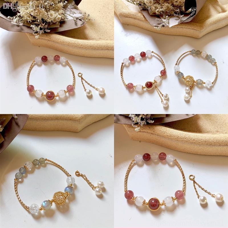 Awa2z para brand pulseira de couro em branco bezel pequeno fresco bralet negro namoradas morango cristal vidro cabochon jóias naturais