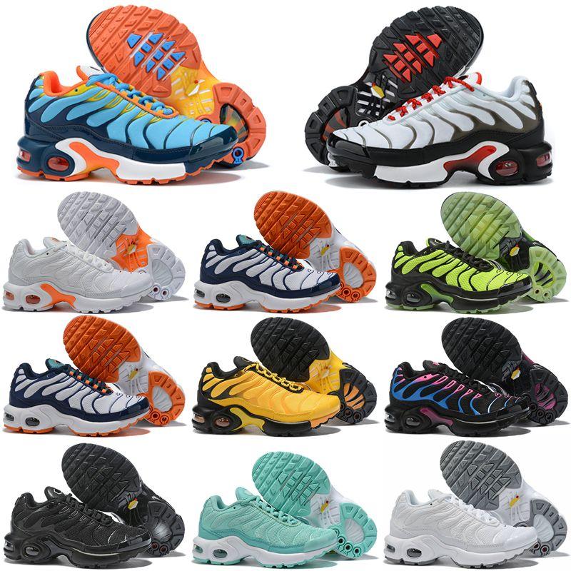 Nike AIR MAX TN PLUS TN 2019 Nuove scarpe da corsa per bambini TN Plus traspiranti da ragazzo e da ragazzo Designer Sneakers sportive Taglia Eur 28-35
