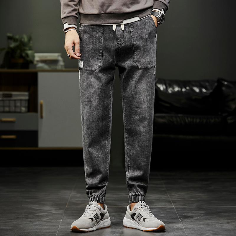 Nouveau pantalon pour hommes 2021 Modèles de printemps Harlan Jeans Hommes Lâche Leggings lâches Pantalon Coréen Fashion Trendy Pantalon long