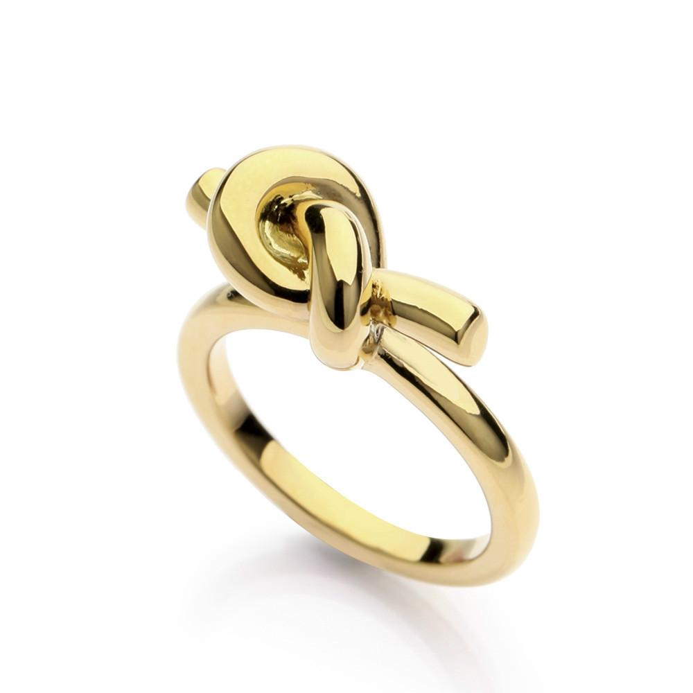 VAROLE Brand New Fashion Trendy Knot Rings For Women Classic Design Gold Color Jewelry Anel Wholesale