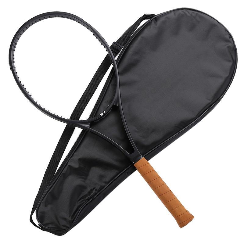 PS 97 جديد مخصص تايوان سوداء مضرب تنس مضرب فيدرر تنس مضرب الرغوية مقبض 4 1/4،4 3/8،4 1/2 مع حقيبة 201116