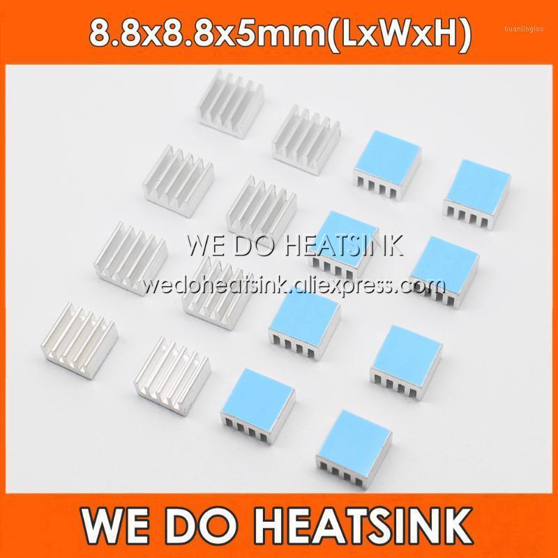 3M 8810 Isılgın İletken Yapışkan Bantlar ile 8.8x8.8x5mm Soğutucu Gümüş Alüminyum Soğutucu 8.8x8.8x5mm yapıyoruz1