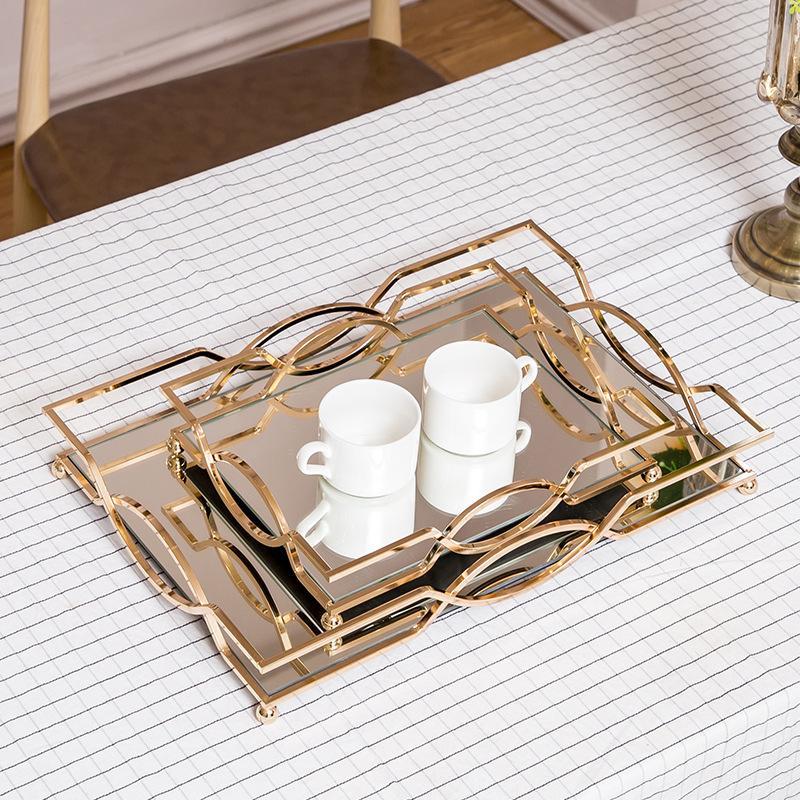 Avrupa Ev Dekorasyon Depolama Tepsi Modeli Odası Çay Seti Süsler Süsler Düğün Hediyeleri W1217