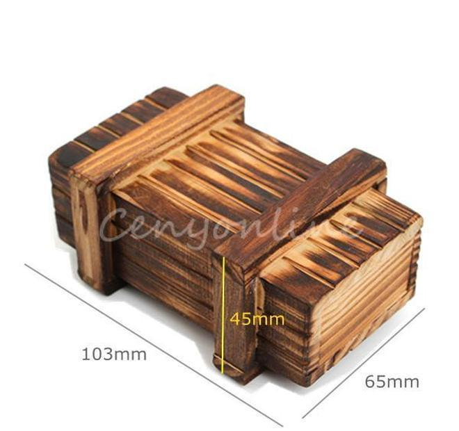Vintage Almacenamiento de madera Caja de regalo Mágica Hidden Cajón Secreto Cajero Cerebro Rompecabezas Caja Juguete Cofre Aprendizaje Jllnsq MX_HOME