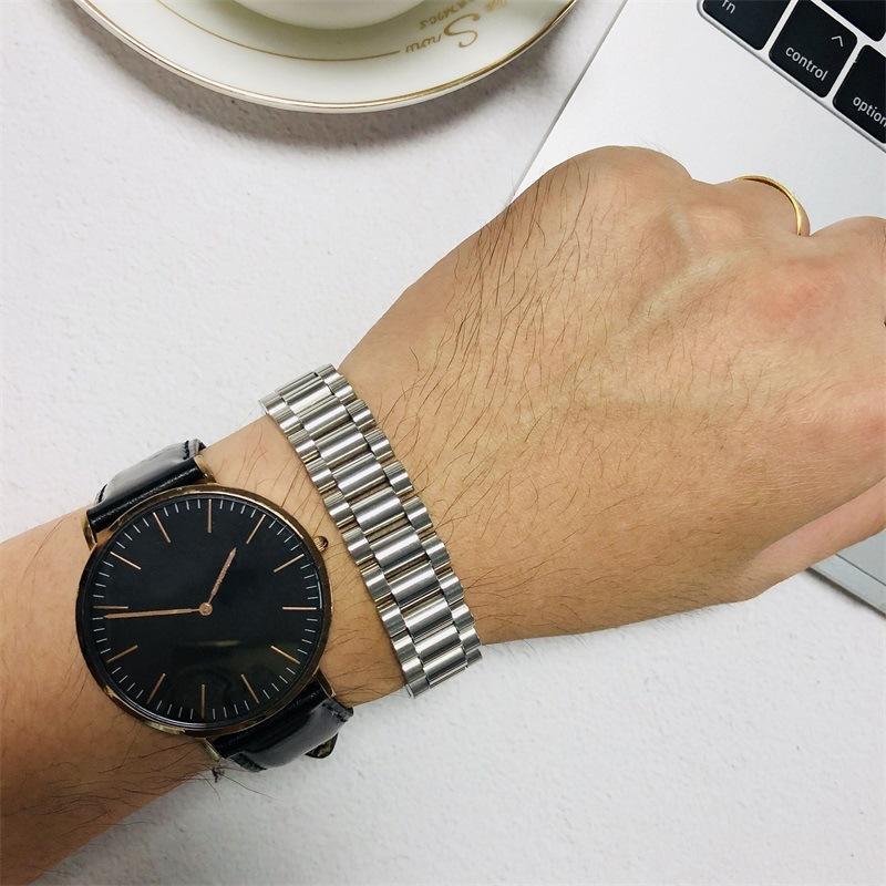 BC Mode Gold Präsident Strap Armband Hiphop Uhrbanddesign Männer Schmuck Y1130
