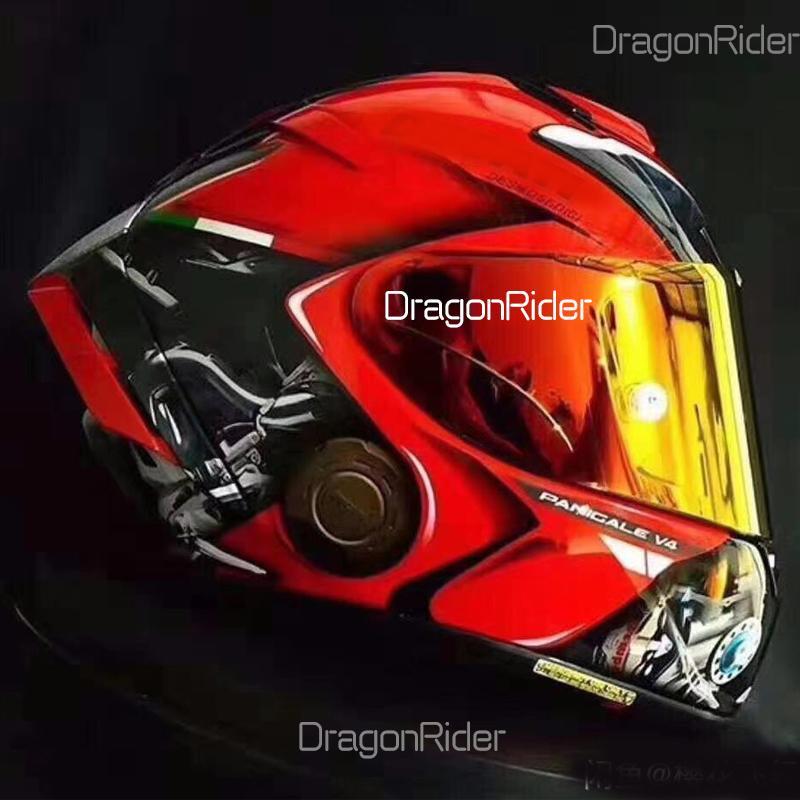 Tam yüz shoei x14 ducadtiii motosiklet kask anti-sis vizör adam sürme araba motocross yarış motosiklet kask-değil orijinal kask