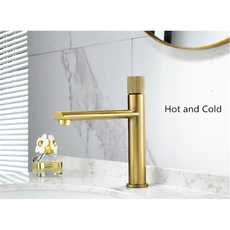 Bagno rubinetto spazzolato in ottone in ottone in ottone per il bacino del bacino del bacino del bacino del lavandino del lavandino freddo e calda del lavandino del lavello della lavata del rubinetto nero / nichel