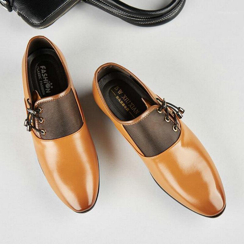 2020 Bahar Yeni erkek İş Elbise Ayakkabı Sivri Oxford Ayakkabı Erkekler Resmi Büyük Boy C21-941