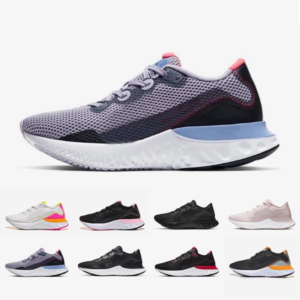 Triple Black Grateful White React Renew Run Run Homme Violet Frost Noir Noir Particule Gris Volt Platinum Tint Hommes Femmes Sports Sneakers 36-45