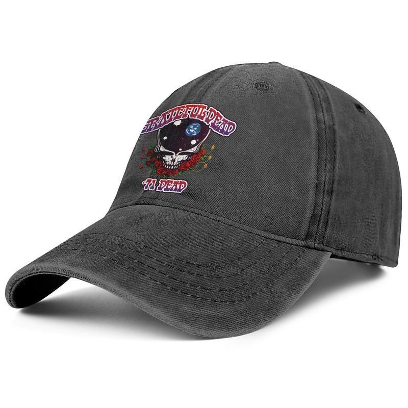 Unisex Grateful dead 71 Fashion Denim Baseball Caps Cool Washed Dad Hats Adjustable Vintage Ball
