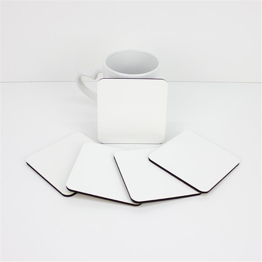 10 * 10cm 승화 코스터 목재 빈 테이블 매트 DIY 애호가 A03에 대 한 MDF 단열 열 전사 컵 패드