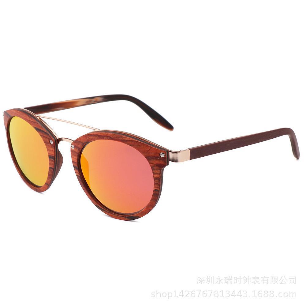 Creative Nouveaux hommes Couleur des lunettes de mode en bois de mode de mode