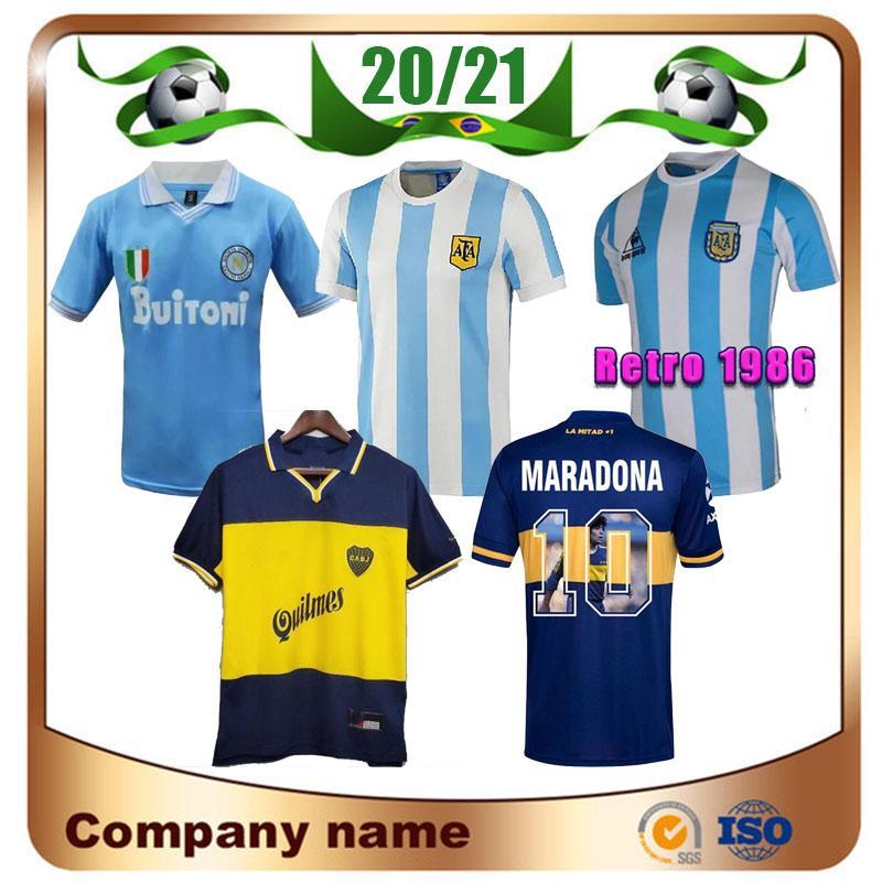 Maradona Retro Argentina 1986 1987 1988 1999 Napoli Soccer Jerseys Boca 1995 87 88 89 91 93 Maillots De Fútbol Maradona Camisetas de fútbol