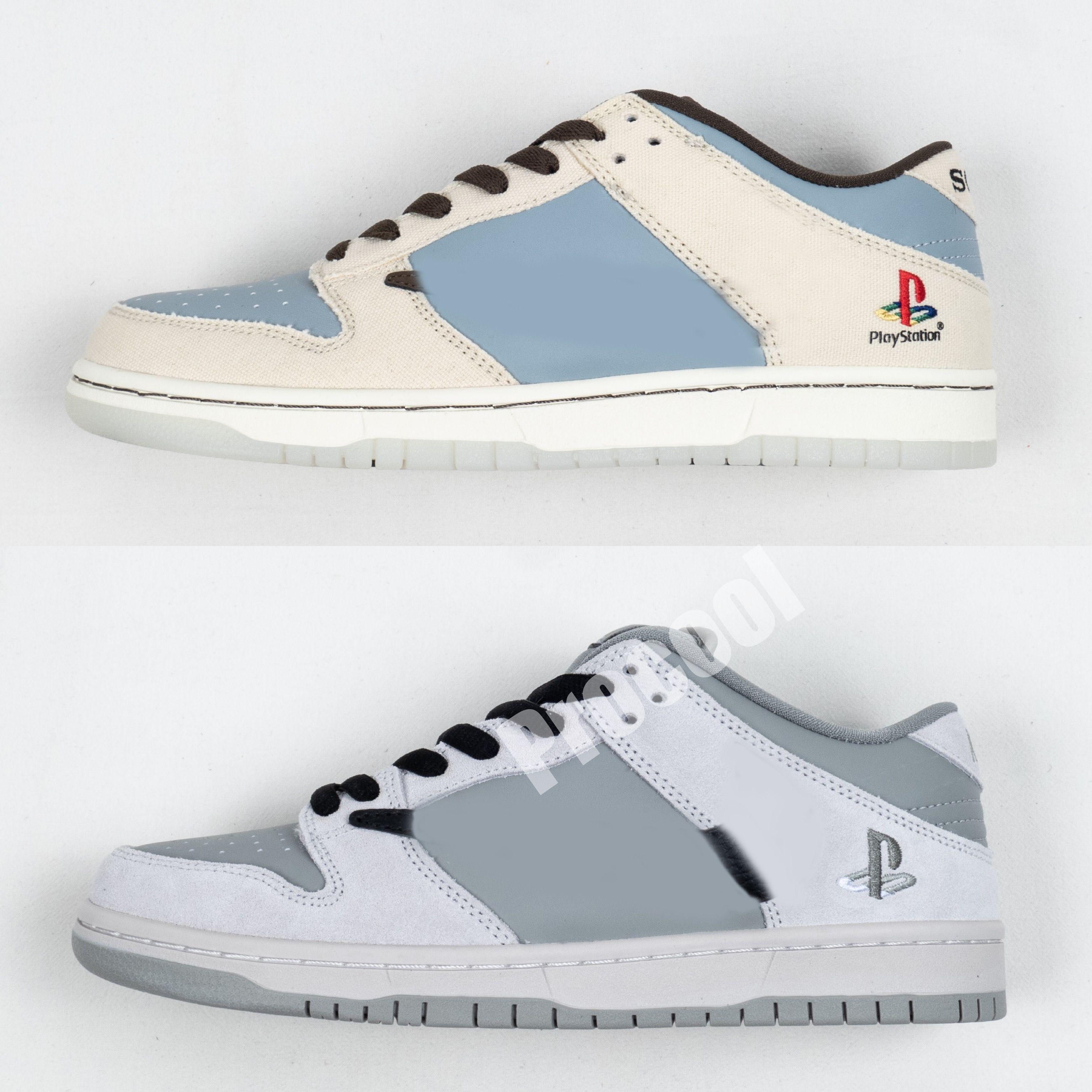 Travis Scotts PlayStation SB Dunks 1s Designer Designer da uomo di alta qualità Sail Dark Mocha University Zapatos Mens Sport Strumentato