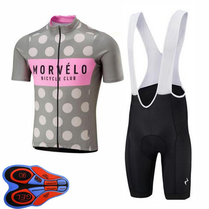 Morvelo Team 2020 Team pour hommes Vélo Vélo Jersey Ensemble de chemises courtes Chemises Bib Shorts Kit Road Racing Vêtements Vêtements Vélo Uniforme S120703