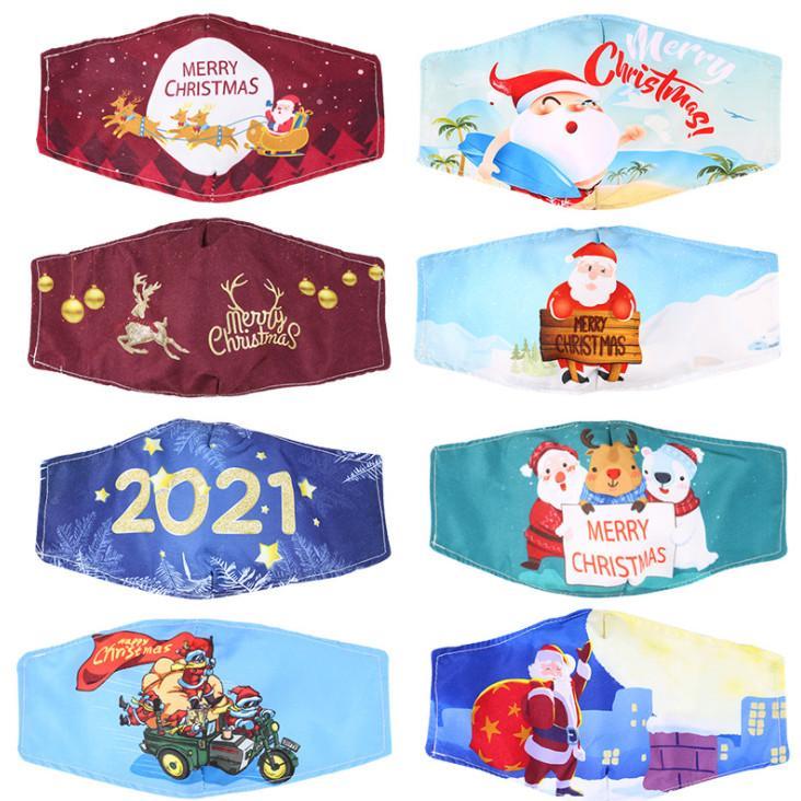أحدث أقنعة نمط حفلة عيد الميلاد، الكرتون هالوين 20 أنماط للاختيار من بين قناع القطن بالغبار للأطفال