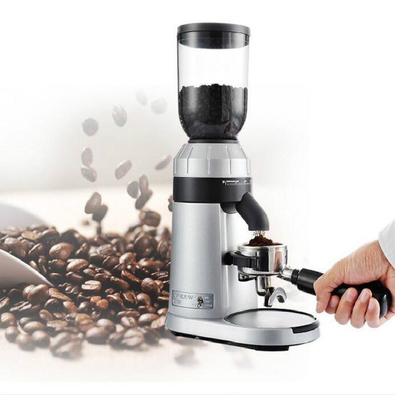 WELHOME ZD-15 Moedor Elétrico Italiano Coffee Grinder Comercial Moinho Automático Fria Brew Cafeteira Aço Inoxidável 150W