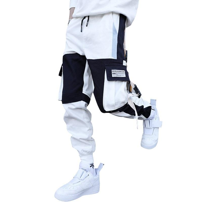 Automne Casual Fit Streetwear Jogger Pantalon taille élastique 2020 Printed Tactical Cargo Pant Hommes Pantalons 1116