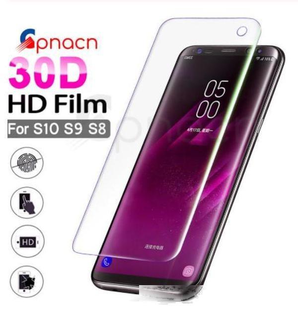 Screen Protector für Samsung Galaxy S10 S9 S9 S8 Plus Screen-Schutzfolie für Samsung S10E Note 8 9 S7 Rand Weiche volle Abdeckung
