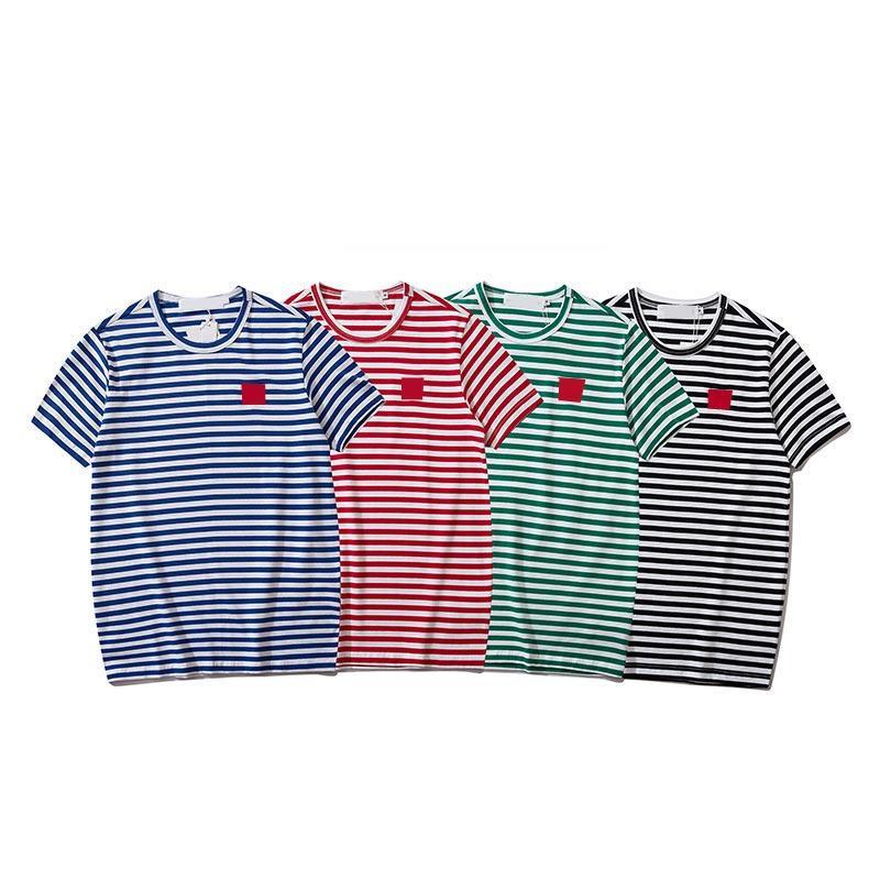 Erkek T Gömlek Çift Moda Gömlek Dalga Mektup Baskı Tasarımcısı T Gömlek Klasik Moda Erkekler ve Kadınlar için Rahat Kısa Kollu