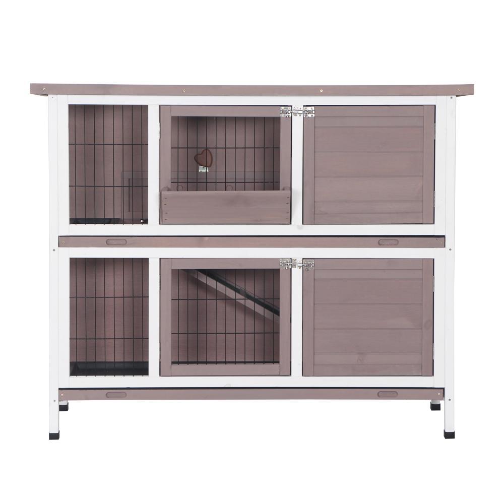 Waco 48In два этажа деревянный кролик хатч, домашний курятник, домашний курятник открытый кролик курятник курятник