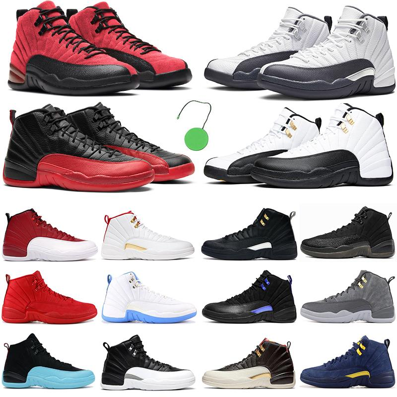 2021 NOUVEAU Hommes Basketball Chaussures Jumpman 12 Dark Concord 12s Dernière grippe de la grippe Royal Rouge Indigo The Master Hommes Femmes En plein air Excellentes baskets