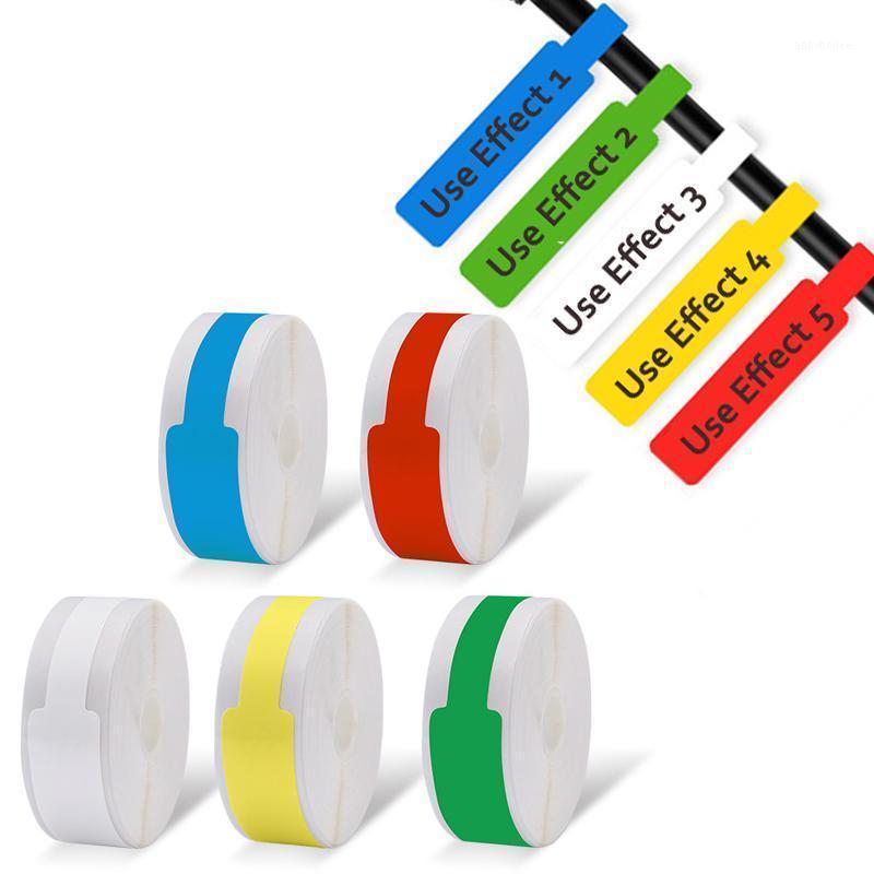 프린터 D11 D61 자체 접착 케이블 스티커 방수 식별 광섬유 와이어 태그 레이블 주최자 네트워크 마커 툴 1
