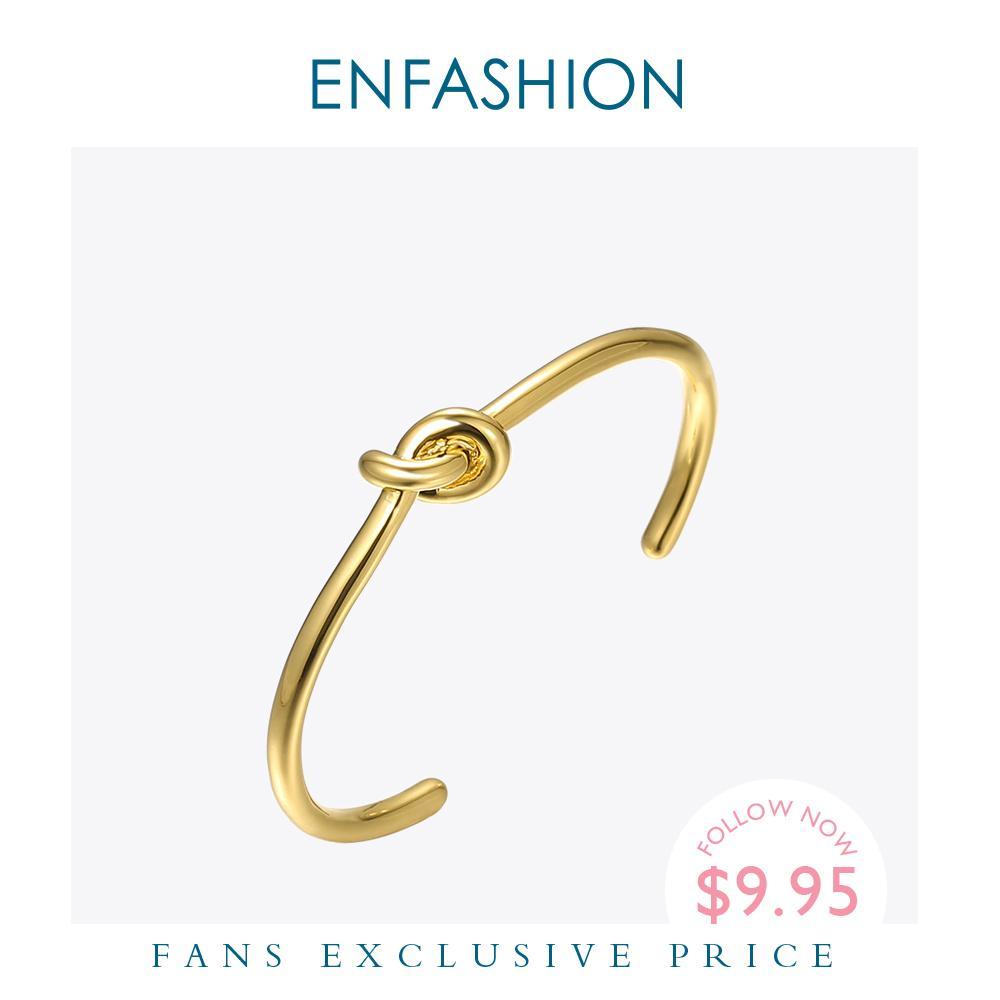 Enfashion Wholesale Узел манжеты браслеты золотой цвет маншет браслет для женщин повязки моды ювелирные изделия Pulseiras B4286 Y1126