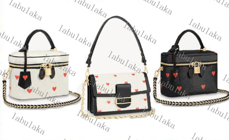Kostenloser Versand Mode Dauphine Eitelkeit Tasche Frauen Handtaschen Designer Echtes Leder Umhängetasche M57482M57463 Kommen Sie mit Staubbeutel