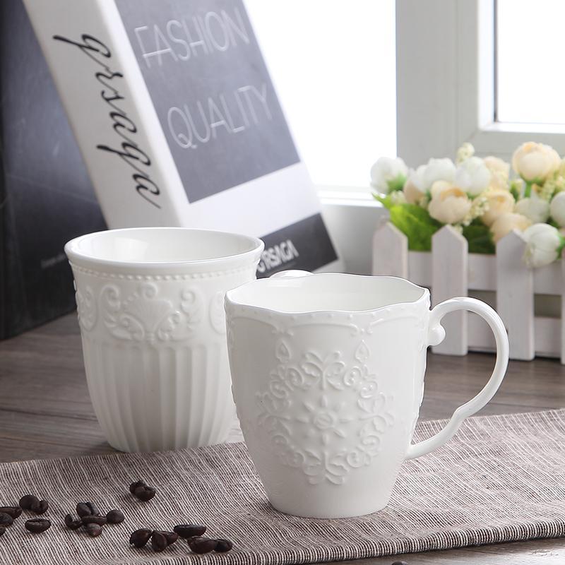 300ml, porcelaine en relief blanche mignonne neige mignonne, Copo Cafe Nespresso Cup, Céramique Funny Mugs Cadeau de Noël, Taza Para Cafe Cup