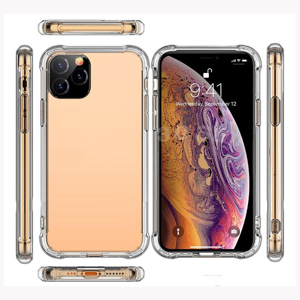 Soft TPU Transparent Clear Phone Case Protect Cover Shockproof Soft Cases For iPhone 12 mini 12 pro max to 5s