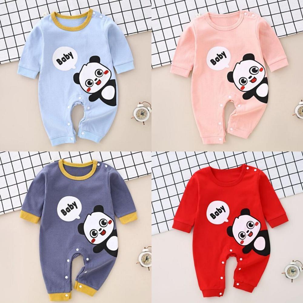 Livraison gratuite Cartoon bébé vêtements bébé garçon nouveau-né barboteuses vêtements de coton filles vêtements 0-12m enfants vêtements pour bébés jumpsuit
