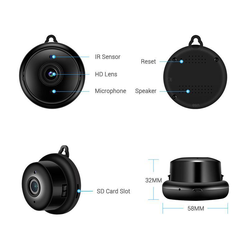 Мини Wi-Fi Камера Удаленный приложение Монитор Главная Безопасность 1080P IP-камера ИК беспроводной магнитный ночной падение