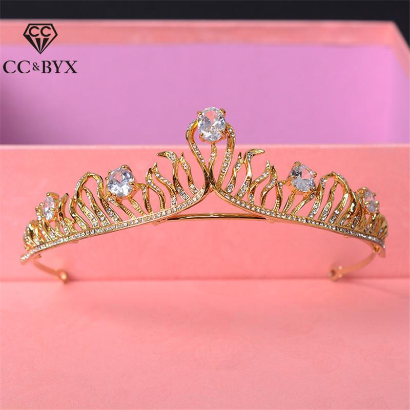 Зажимы для волос Barnettes Tiaras и Crowns Fairbands Simple Design Water Propection Свадебные аксессуары для драгоценных изделий невесты Shine CZ HG620