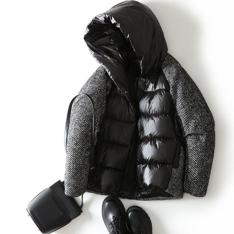 Chaqueta para mujer de invierno Abrigo de lana 90% pato blanco Abrigos Abrigos Mujer Chaquetas Espesar Ropa femenina Chamarras de Mujer WPY1208