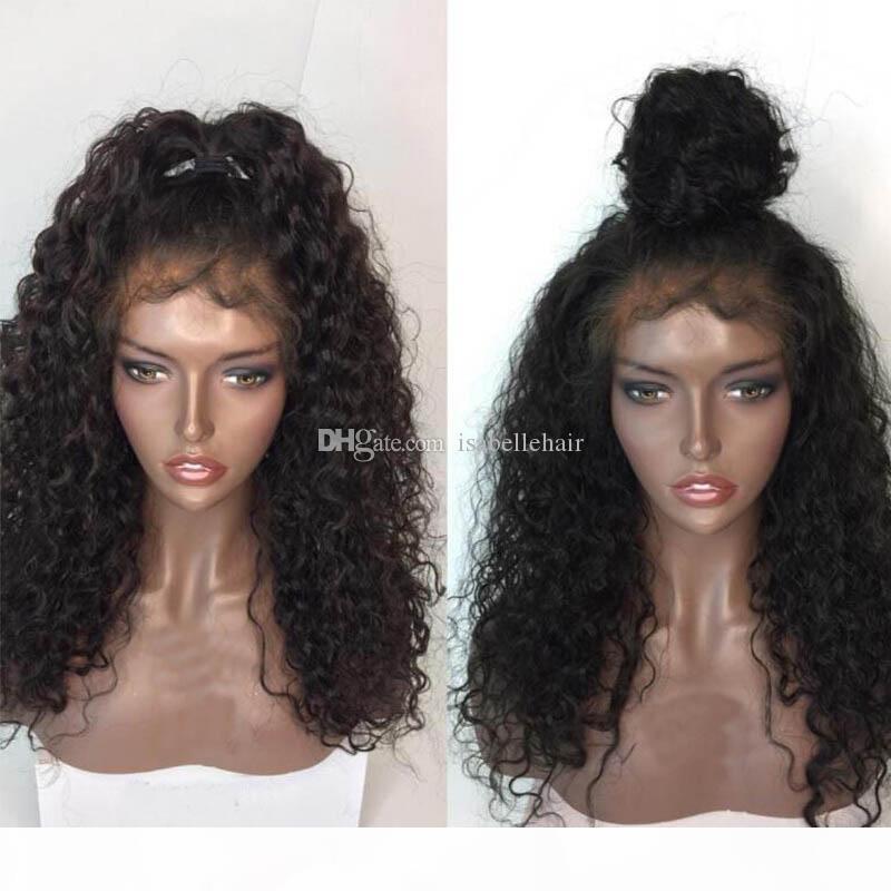 9A вьющиеся человеческие волосы парики волос с младенцем волосы бразильские девственные кружева передний парик для черных женщин высочайшее качество полные кружевные парики отбеленные узлы