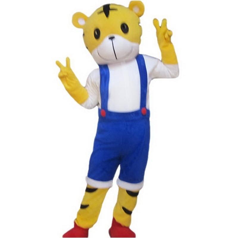 Guai Guai Tiger Mascot Costume Personaggio dei cartoni animati Dimensione adulto Longteng (TM) 03
