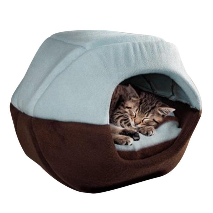 Maison de lit de chien de chat d'hiver S / M / L pliable douce chaude chaude chaude chaude cave cave caves de couchage nid kennel fournitures de compagnie p7ding 201218