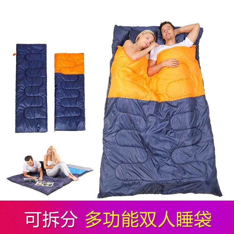 Çift uyku tulumu yetişkinler üç çiftler için açık kamp