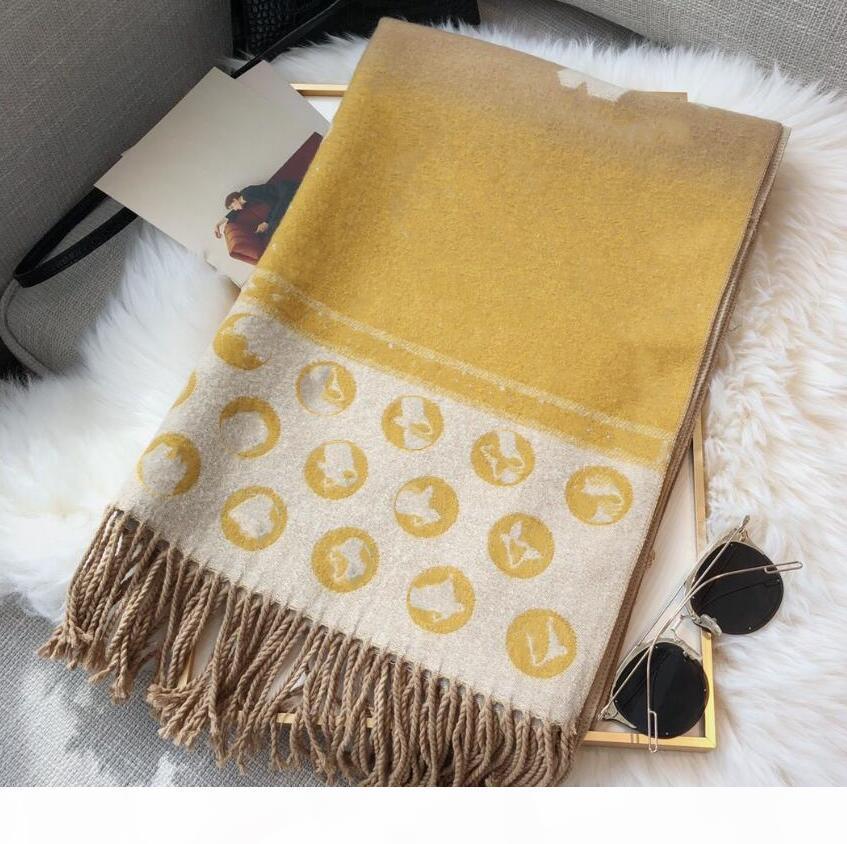 Designer Tarls Frauen Luxus Schal Tücher Großhandel Hohe Qualität Kaschmirschal Winter Schal 180 * 65cm 6farben Kostenloser Versand