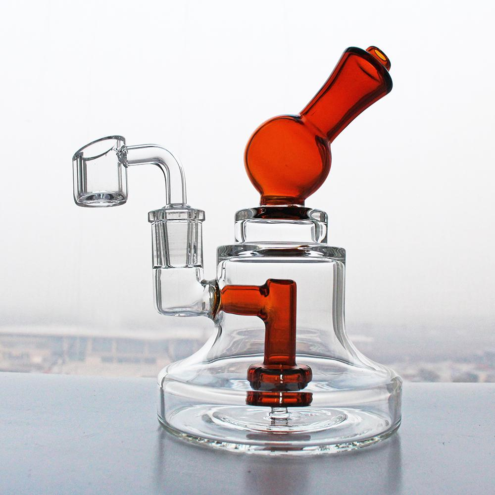 Liya Hookahs Mini Dab Old Rig Rig 6 '' Vidro Bongo Duche Perc Fêmea 14.5mm tubo de água com quartzo Banger Bowl