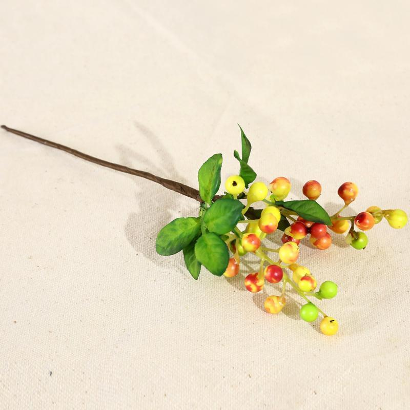 الزهور الزهور أكاليل الفواكه الديكور محاكاة حفلات نباتات المنزل الاصطناعي زهرة التوت البلاستيك الزفاف