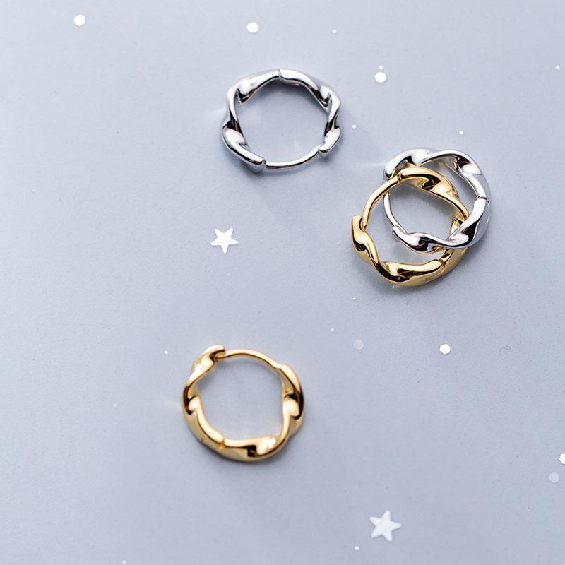Echte 925 Sterling Silber 14k vergoldet Getreide Ohrring Mode Einfache Design Creourings Designs für Mädchen Geschenk