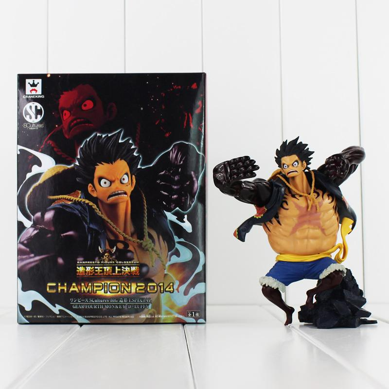 Anime One Piece Gear Четвертая обезьяна D Luffy 14см ПВХ действий фигура коллекционные модели игрушка бесплатная доставка в розницу
