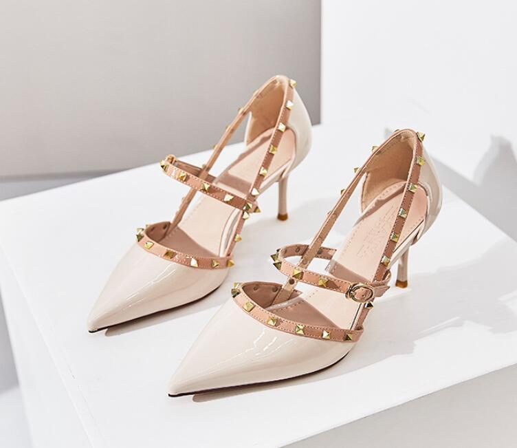 yüksek topuklu kelime toka sandalet sandalet tasarımcıları partinin kadın sandalet ani çizme ayakkabı sürgülü tek bir ceza perçinlemek