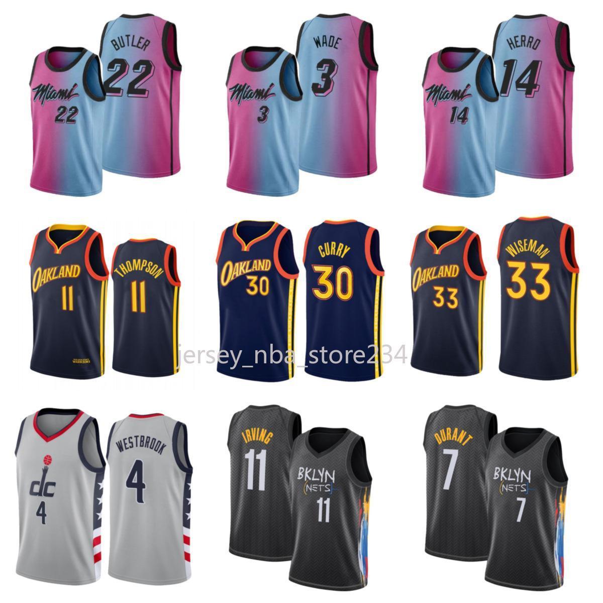 NCAA 2020 2021 Nouveau Jersey de basketball Russell Westbrook WashingtonAssistantNouveau Dwayne Dwyane Wade Jimmy Butler Tyler Herro Bam Adebay