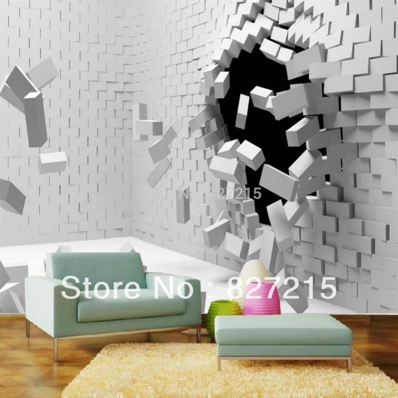 3d papier peint personnalisé murale de style européen 3D Salon TV chambre fond photo fond d'écran