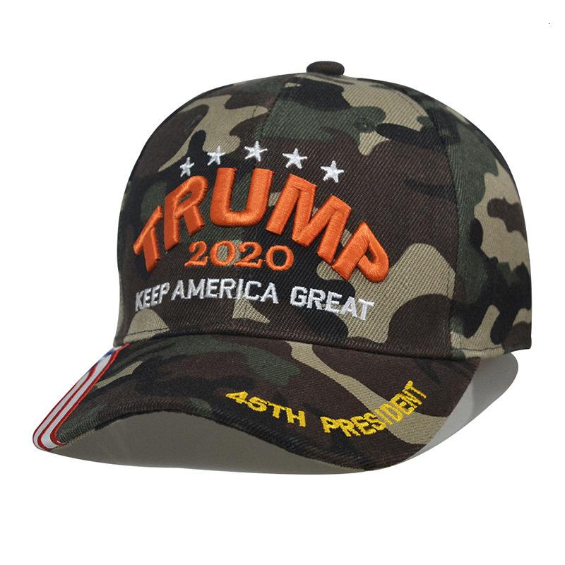 2020 Amerika Tutmak Büyük Topu 45th Başkanı Caps Trump Seçim Parti Şapkalar Kamuflaj Beyzbol Kap CCA12498 60 adet
