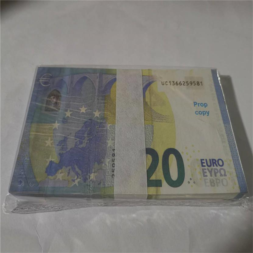 2021 Vente chaude PROP ARGENT EUR 10/20/50/100/200/500 PAPIER Copier Banknote PROP ARGENT 100PCS / PACK 02